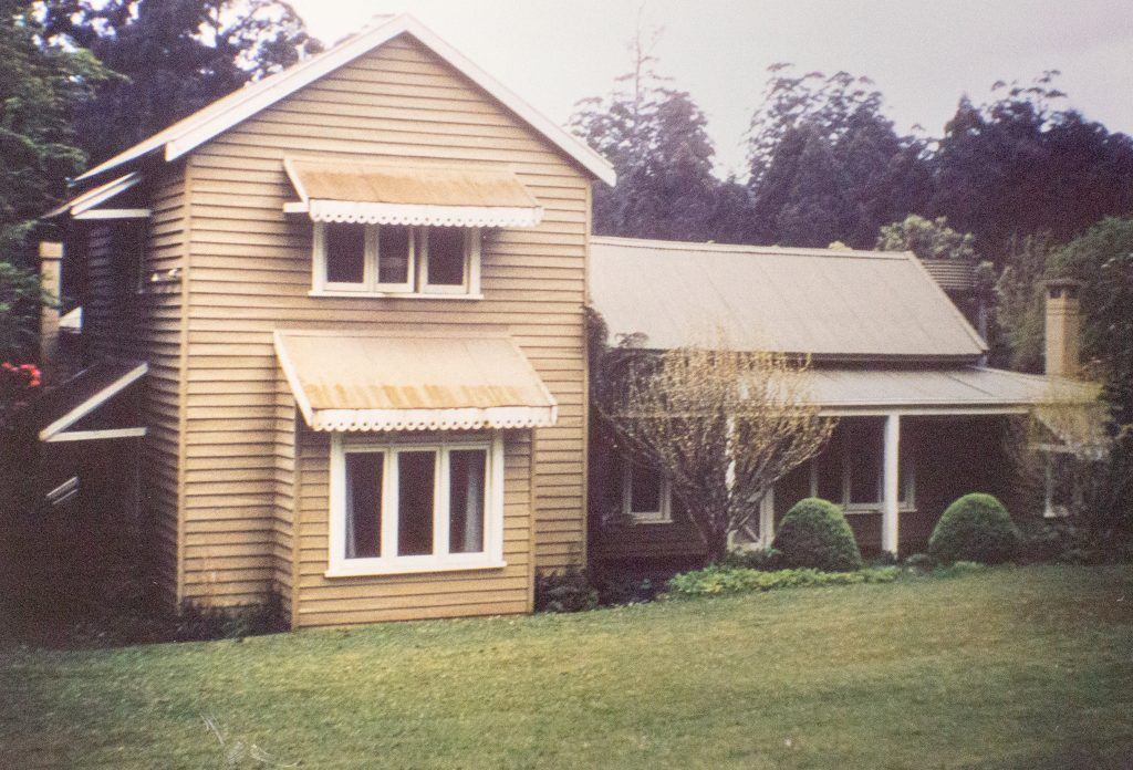 Front view of CJ Dennis home in Toolangi